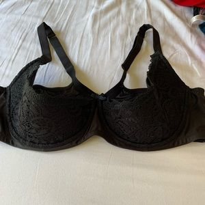 Black Lacey sexy bra from Lane Bryant
